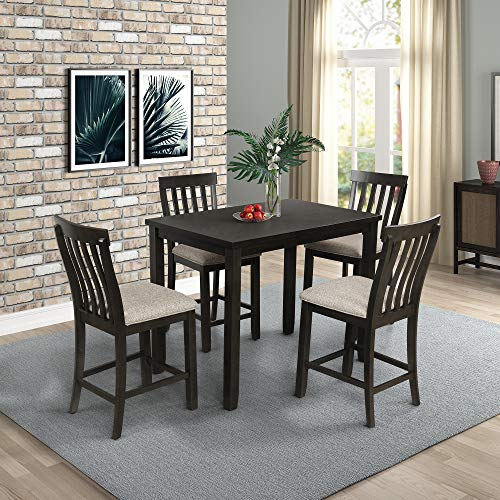LZ LEISURE ZONE Dining Table and Chairs Dining Room Set Wooden Dining Table,with 4 Chairs