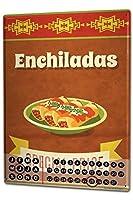 カレンダー Perpetual Calendar Nostalgic Fun Enchiladas snack Tin Metal Magnetic
