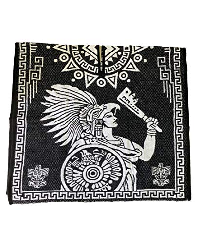 BLACK AND WHITE , PONCHO , EAGLE , MEXICAN FLAG , BANDERA DE MEXICO, AZTECA , GUERRERO AZTECA , WARRIOR , PONCHO , MADE IN MEXICO , GABAN , MEXICO , 1ST QUALITY , SOFT INSIDE , DOUBLE SIDED , TWO DESIGNS , WARM , ONE SIZE FITS ALL , UNISEX