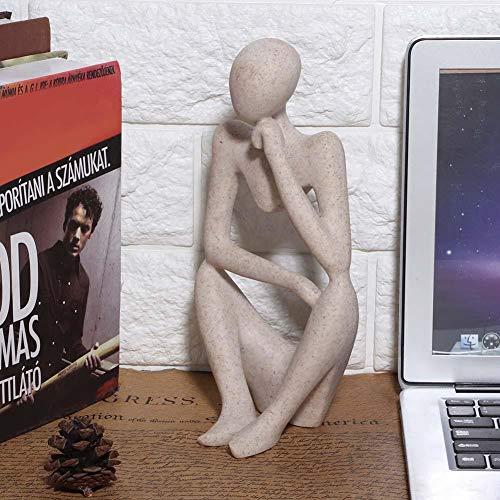 Denkende Figur Ornament Modell Figur Statue Exquisite handgemachte Harz Figuren Handwerk Geschenk für Home Decoration Office Desk Ornament