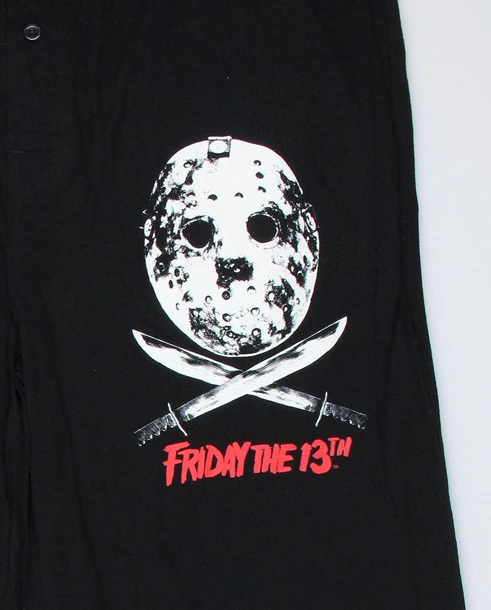Friday The 13th Mens' Jason Mask and Machetes Lounge Sleep Pajama Pants