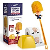 Donald Trump Toilet Brush and Trump Toilet Paper Roll Bundle - Funny Political Gag Gift Toilet Bowl Cleaner Scrubber with 3-Ply Bathroom Tissue Paper - Hilarious Trump Hair Unique Gift Idea