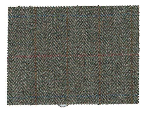 Walker and Hawkes - Harris-Tweed-Stoff - 100% echte Schurwolle - Moosgrün - 100 x 150cm