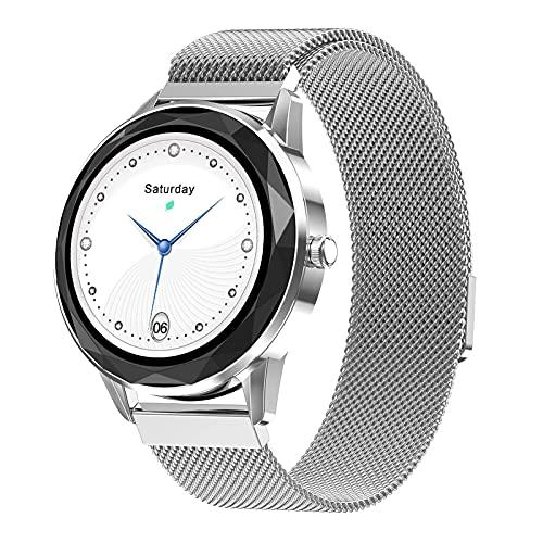ZGZYL HDT7 Smart Watch Lady Mit Herzfrequenz-Monitor Lady Smartwatch Fitness Tracker Schrittzähler Dame Armband Geschenk Für Android Ios PK KW10,C