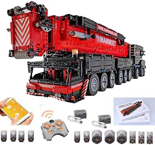 PEXL Technic Grue Liebherr LTM 1750 Construction Set - Technic Camion Grue 9x9 Jeu de Construction avec 12 Moteurs et Télécommande - 7000 Pièces Blocs Compatible avec Lego Technic