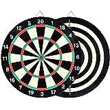 NC Gioco di Freccette in Gomma, Set di Freccette Bullseye rotanti, 6 Freccette con Punta in Acciaio, Il miglior Regalo di Giocattoli per Bambini Giochi all'aperto per la Famiglia e Gli Amici.