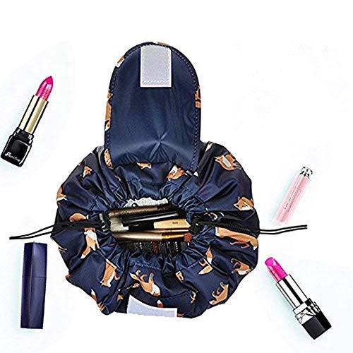 Kosmetiktasche, Drawstring Makeup Bag, ONEGenug Schminktasche, One-Step Organizer MakeUp Tasche Kosmetikbeutel
