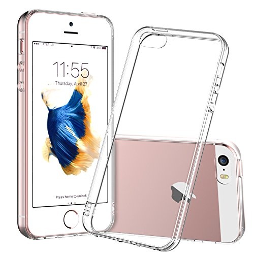 For iPhone 5s Case, Shamo's Clear Apple iPhone SE 5S 5 Case [Shock Absorption] Cover TPU Rubber Gel  - http://coolthings.us