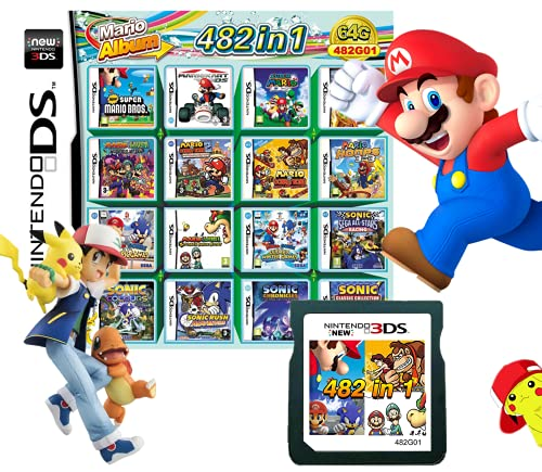482 In 1 NDS Game Pack Card Compilations Super Combo Multicart DS Game Card for Nintendo DS NDSL New 3DS 2DS New 2DS NDSi NDSi LL/XL 3DS 3DSLL/XL