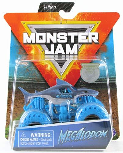 Monster Jam, Official Megalodon Monster Truck, Die-Cast Vehicle, Nitro Neon Series, 1:64 Scale