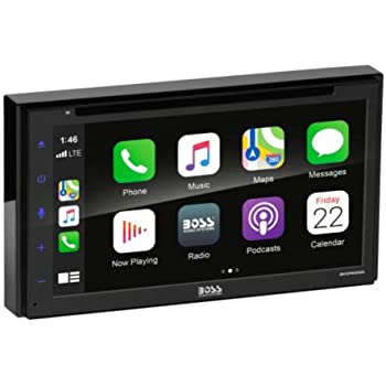 BOSS Audio Systems BVCP9690A Apple CarPlay Android Auto Car Multimedia DVD Player - Double Din Car Stereo, 6.75 Inch LCD Touchscreen, Bluetooth, DVD, CD, MP3, USB, A/V Input, AM/FM Radio Receiver