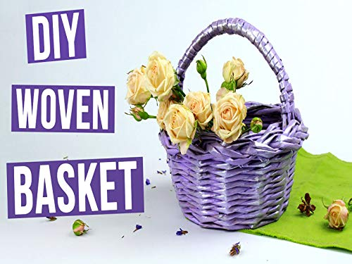 Do It Yourself Decorative Woven Basket From Paper Tubes