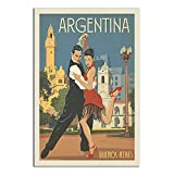RQSY Vintage-Reise-Poster, Argentinien, Buenos Aires,
