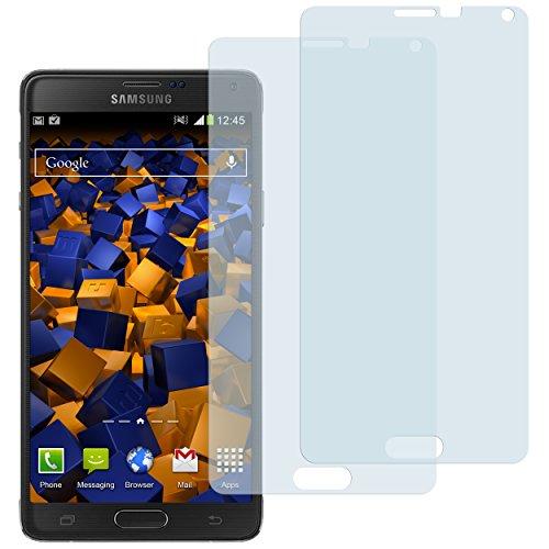 mumbi Schutzfolie kompatibel mit Samsung Galaxy Note 4 Folie klar, Displayschutzfolie (2X)