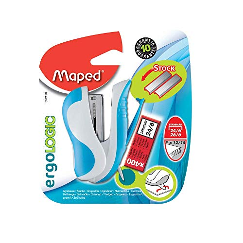 Maped - Mini grapadora con grapas en blister (Cofrap 352110) - colores surtidos