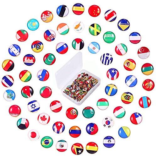 100 Stücke Landkarten Pins, Karten Push Pins, Land Flagge Pins, Kreative Nationalflagge Pins, für Kork Bord, Pinnwand, Fotowand