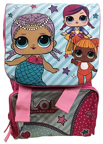 LOL Surprise Deluxe - Zaino da viaggio per bambini, misura grande, colore: Rosa