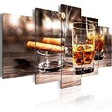 murando - Bilder Zigarre und Whisky 200x100 cm Vlies