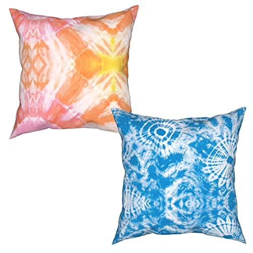 Tie-dye Patrón de impresión de moda multi-tamaño cuadrado funda de almohada de dos piezas decoración salón sofá dormitorio al aire libre