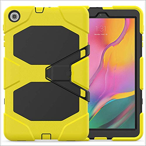 DUDUCHUN Case for Samsung Galaxy Tab A 8.0 Case 2019 SM-T290/T295, for Galaxy Tab A 8.0 2019 Hybrid Shockproof Rugged Drop Protection Cover Built with Kickstand,yellow