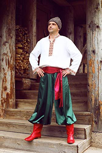 Ukrainian costume men vyshyvanka traditional Slavic clothing folk dancing wear