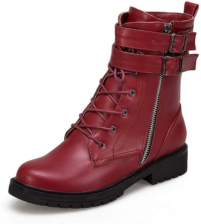 AdeeSu Womens Buckle Casual Boots Urethane Boots SXC03693