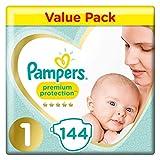 Pampers Lot de 144 couches de protection supérieure et confortables approuvées par British Skin...