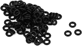 uxcell 100Pcs 4mmx1mm Nitrile Rubber O-rings Heat Resistant Sealing Ring Grommets Black