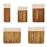 PandaHall 5 Dimensioni Nasello Pennelli per acquerelli Manico in bambù Pennello Haik per Lavaggio in Forno, Acquerello, Pulizia della Polvere, Ceramica, Pittura su Ceramica