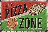 Froy Pizza Zone Pared Cartel de Chapa Retro Hierro Cartel Pintura Placa Hoja de Metal Vintage Arte Personalizado Creatividad Decoración Artesanía para Cafe Bar Garaje Inicio
