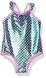 Pink Platinum Girls Baby Mermaid Bathing Suit, Purple, 18M
