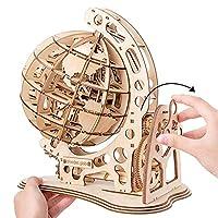 子供のティーン大人のための木製のパズルゲームの組み立て玩具ギフトを切断147pcs DIY回転可能な3D地球儀レーザー