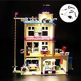 Kit de iluminación LED para lego 41340, juego de luces compatible con el modelo de bloques de construcción (Friends Heartlake Friendship House) (NO incluido el modelo)
