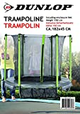 DUNLOP Trampolin, Grun/Schwarz, 182 x 45 cm