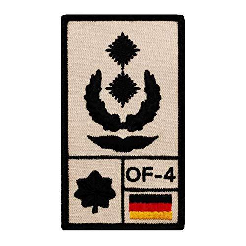 Café Viereck ® Oberstleutnant Luftwaffe Bundeswehr Rank Patch mit Dienstgrad - Gestickt mit Klett – 9,8 cm x 5,6 cm (Sand)