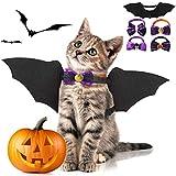 Fansport 5 Pcs Halloween Ropa para Mascotas,Alas De Murciélago para Mascotas para Perros y Gato con...