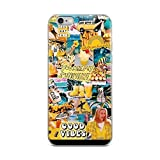 miguella Yellow Good Vibes Collage Case Cover Compatible for iPhone (6 Plus/6s Plus)