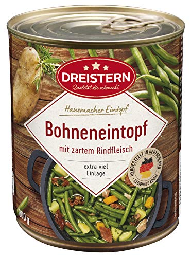 DREISTERN Bohneneintopf mit Rindfleisch, 800 g
