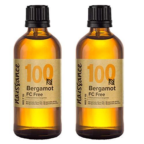 Naissance Bergamota Sin Furanocumarinas - Aceite Esencial 100% Puro - 200ml (2x100ml)
