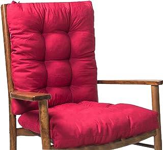 Gazaar 2 cojines para sillas mecedoras, cojines antideslizantes con relleno de algodón suave, cojines de apoyo para sillas de jardín para sillas de hogar, comodidad para el tamaño