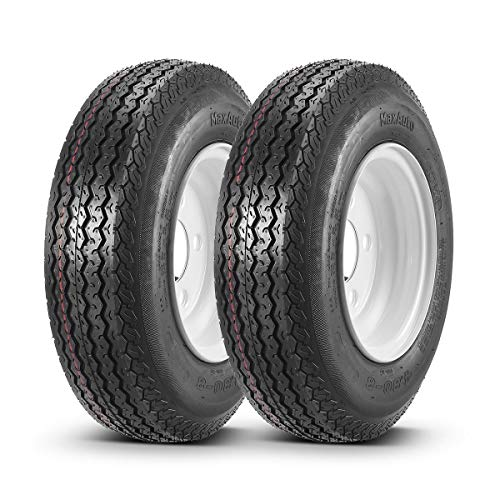 "2PCS Kayak Trailer Tires & Rims 480-8 4.80-8 4.80x8 6PR (5 Lug/4.5"" Hole Bolt)"