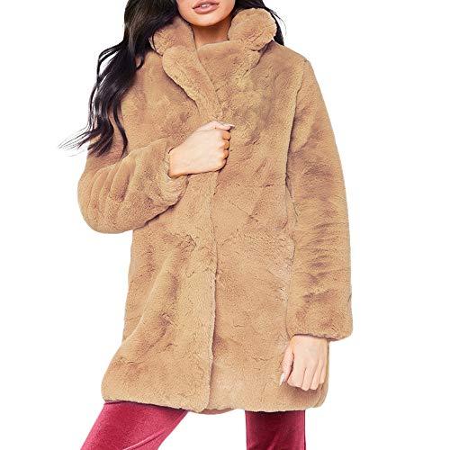 Vovotrade Damesjack, gevoerde jas, gewatteerde jas, capuchon, kunstbont, winterjas, mantel parka, maat dames, lang, bont jas, warme winter