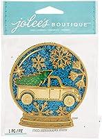Jolee's Boutique Adhesive Laser-Cut Wood Embellishment-Snow Globe