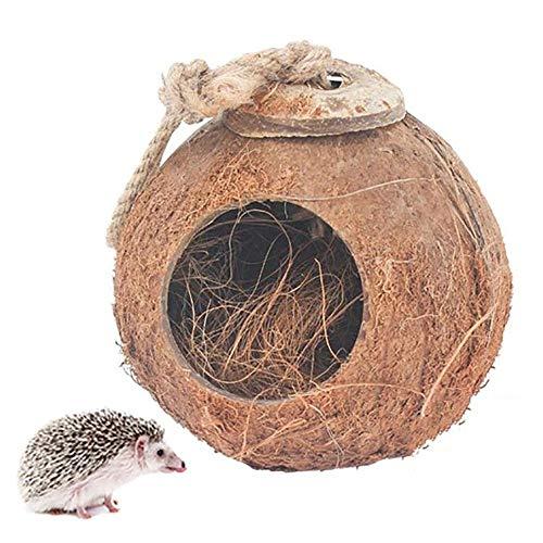 Igelhaus Winterfest Mit Boden, Kokosnussschale Igelhotel, Stark Und Robust Igelschlafhaus, Nest Igelhaus Bausatz Geeignet Für Igel, Hamster Und Andere Reptilien
