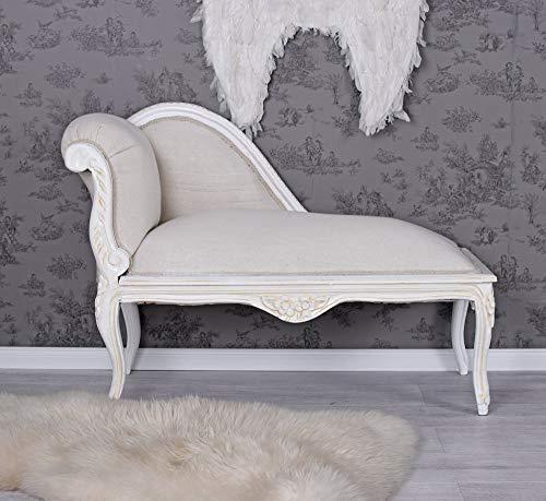 PALAZZO INT Romantisches Sofa OTTOMANE LANDHAUSSTIL ALTWEISS Shabby