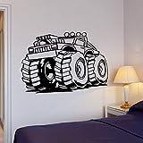 WERWN Adhesivo de pared de coche grande máquina rueda poder estilo fresco decoración del hogar sala garaje gente cueva arte mural vinilo pegatina