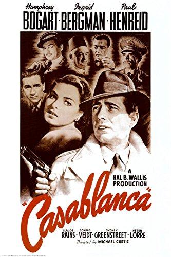 Casablanca Poster Humphrey Bogart,Ingrid Bergman