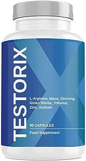 Testorix | Formel mit Zink, Ginseng, Maca, L-Arginin, Tribulus Terrestris, Ginkgo Biloba..