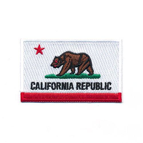 80 x 50 mm USA Kalifornien Sacramento California Flagge Patch Aufnäher Aufbügler 0969 X