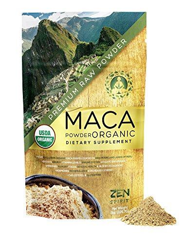 Maca Powder Organic - Peruvian Root Premium Grade Superfood (Raw) - USDA & Vegan Certified - 226.7g (8oz) - Perfect for Breakfast, Smoothies, Baking & Ice Cream.